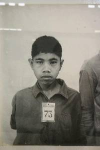 Portrait d'un enfant Cambodgien assassine par les Khmers rouges